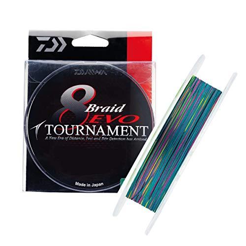 JAPAN DAIWA Tresse 8 Brins Tournament 8 Braid Evo Multicolore - 300m - D.0.20mm - R.18kg - 12781220