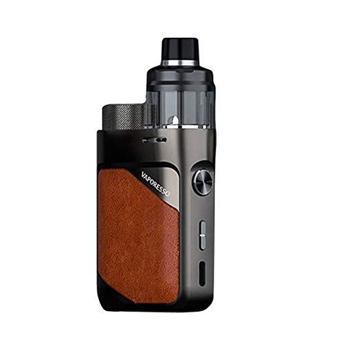 Vaporesso Swag PX80 Kit| 80W Pod Mod 4ml Cartuccia Pod Fit 0.2ohm 0.3ohm GTX Mesh Coil Sigaretta Elettronica Vape Vaping (Marrone Cuoio) senza nicotina