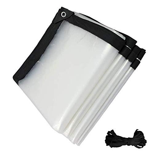 Toldo Lona Alquitranada Tela Exterior Protector,Lona Plástico PE Transparente Resistente A Lluvia,para...