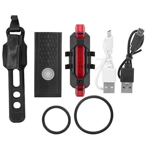 XINMYD Luz de Bicicleta, Luces Delanteras y traseras de Bicicleta, Recargable por USB, Luces Delanteras y traseras de Bicicleta súper Brillantes