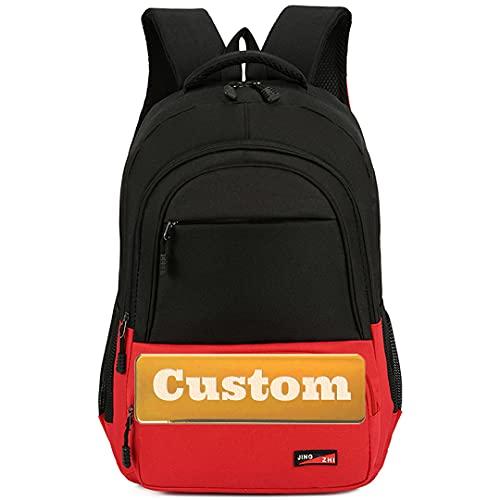 FireH Nome personalizzato Grande borsa per laptop Zaino 15.6 Computer portatile 15.6 pollici (Color : Rosso, Size : One size)