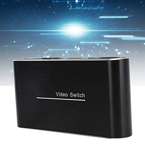 Zwinner Conmutador KVM USB2.0, Calidad de Imagen 4K HD Conmutador KVM de Audio/vídeo Simple y compacto4 Plug and Play para PC