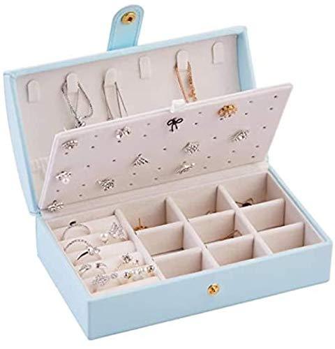 Princess - Caja pequeña portátil para joyas, pendientes, anillos, caja de almacenamiento