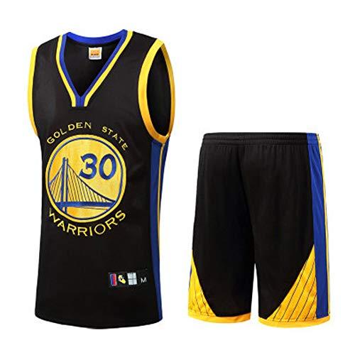 LIUJING Warrior Curry Trikot Durant Thompson Raptors Leonard Owen Kobe Iverson Basketball Unianzug Herren (S-3XL) Gr. XXL, schwarz 1