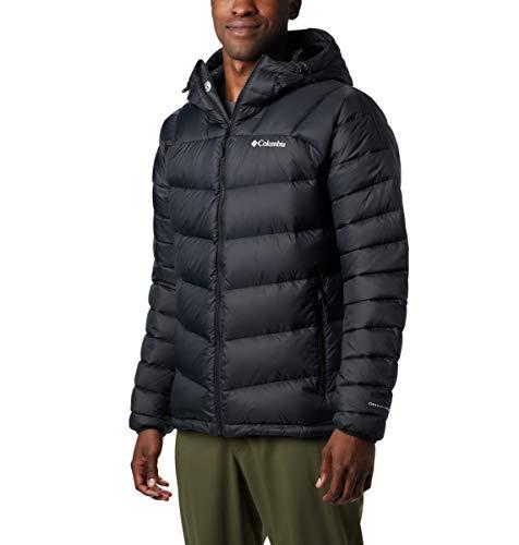 Columbia Men's Centennial Creek Down Hooded Jacket, Large, Black