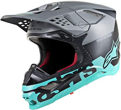 Alpinestars Supertech S-M8 Radium Motocross Helm Schwarz/Grün S (55/56)