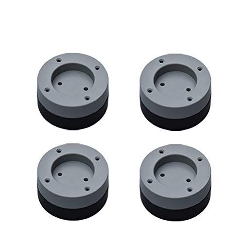 Hidyliu Almohadillas universales para lavadora, 4 unidades, antivibración, de goma, antideslizante, silencioso, para frigorífico, muebles, electrodomésticos, 2 cm