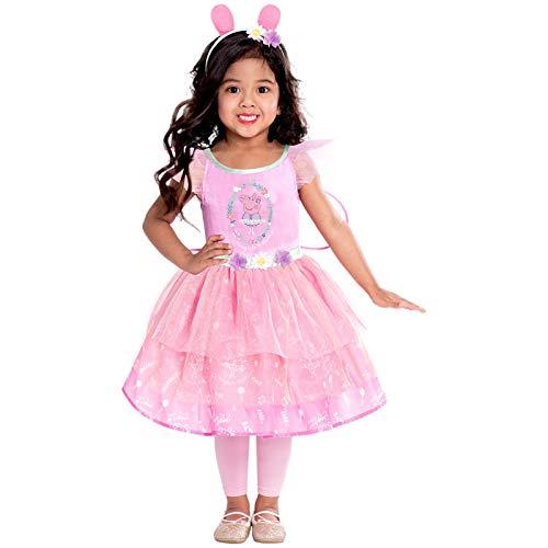 amscan 9905932 - Vestido de hadas rosa con diseño de Peppa Pig (4-6 años-1 unidad)