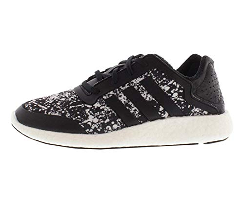 adidas Women's Pure-Boost Q4 Black/White Print Running Shoes M21408 Size 9.5