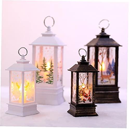 Lanterne Natalizie Decorative Natalizie Decorative Decorative Lanterna Luminosa Lampada a Luce Della Lanterna Azionata Per La Decorazione Del Giardino Del Partito