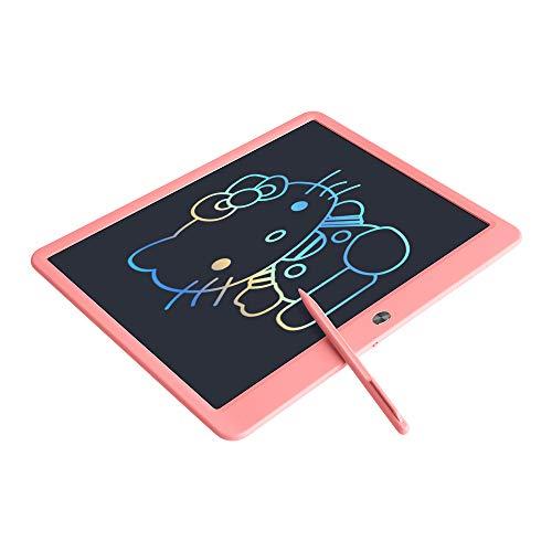 A/N Tablette d'écriture LCD, 10/15 Pouces Tablette Graphique Effaçable pour Enfants, Doodle Tablette Planche à Dessin avec Interrupteur de Verrouillage,Mémo Tableau pour Bureau (15 Pouces, Rose)