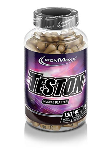 IronMaxx Teston Muscle Blaster – Kapseln mit L-Arginin und Maca für einen normalen Testosteronspiegel im Blut - Ideal für Sportler – 1 x 130 Kapseln