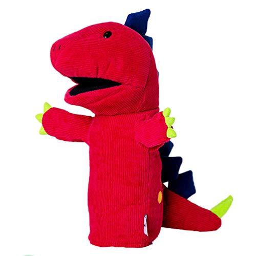 Toyvian Marionetas de Mano de Animales Muñeca de Dedo de Dinosaurio Marionetas de Animales de Peluche Mini Juguete de Dinosaurio de Peluche para Suministros de Narración de Cuentos para Jugar (Rojo)