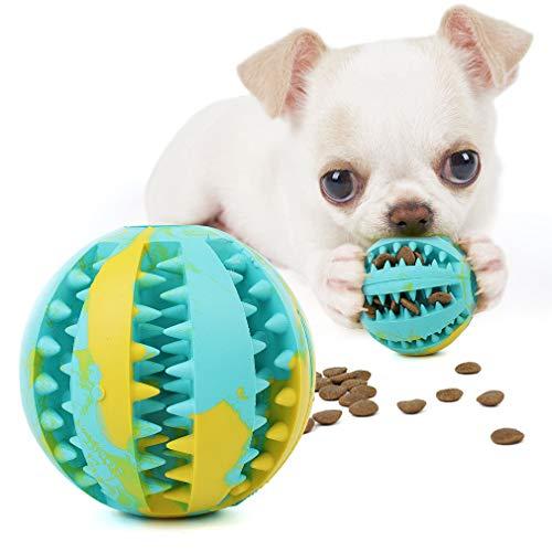 gudong elota de Juguete Resistente a la mordedura para Perros Cachorros, Peluche de Comida para Perros Alimentador Juguete Pelota de Limpieza de Dientes, Juguete para Masticar Perro Bola (Mult