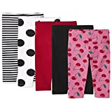 The Children's Place Toddler Girl Print Knit Leggings 5-Pack, in The Pink, 4T