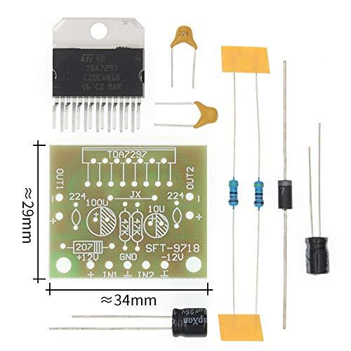 TDA7297 Verstärker-Brett Ersatzteile DC 12V Grade 2.0 Dual-Audio-Encoding 15w Elektronische Diy Kit (Color : TDA7297 Diy Kit)