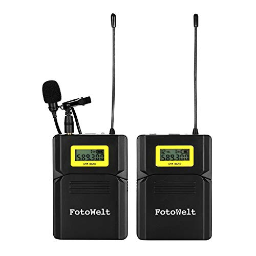Dazzne Pixel UHF Wireless Lavalier Mic System