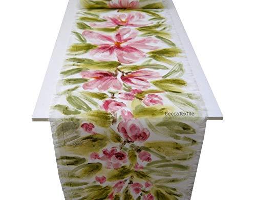 Camino de mesa flores pintadas