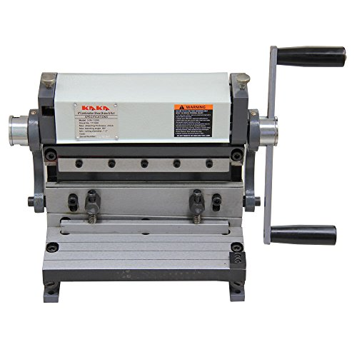 KAKA 3-In-1/8 Sheet Metal Brake, 8-Inch Shear Brake Roll Combinations, Solid Construction, Sheet Metal Brakes, Shears and Slip Roll Machine