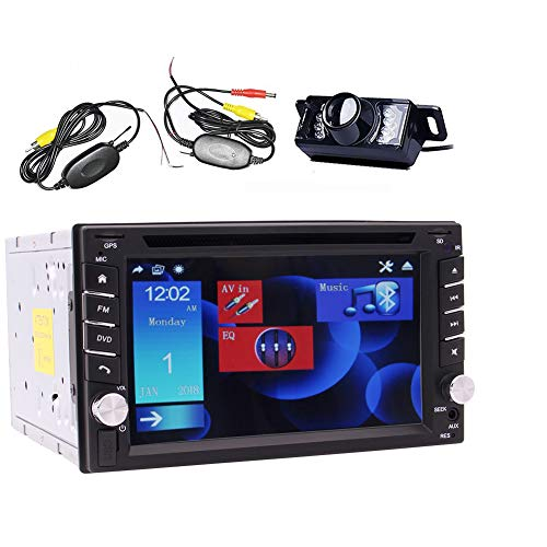 auto radio with dvd cds Car Stereo Double 2 Din GPS Sat Nav MP3, MP4 with CD DVD Player Support Bluetooth/Radio RDS/Steering Wheel Control/USB SD/Subwoofer/Autoradio + Backup Camera + Free GPS Map Card