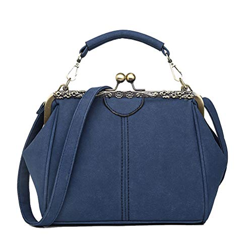Abuyall Retro Kiss Lock Wildleder Minimalistische Crossbag Warm Schultertasche Handtasche Handtasche...