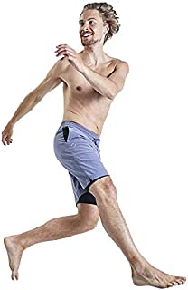 OHMME - Yoga and Pilates Workout Apparel for Men - Eco Warrior II Lined Yoga Shorts