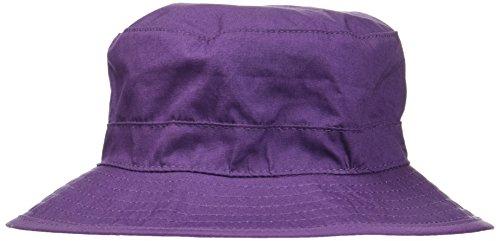 Melton Baby-Mädchen Sonnenhut mit schmaler Krempe UV 30+, Uni Kappe, Violett (Mauve 732), 47