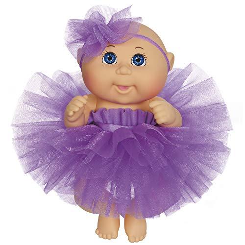 "Cabbage Patch Kids 9"" Dance Time Girl, Blue Eyes, Purple Tutu"