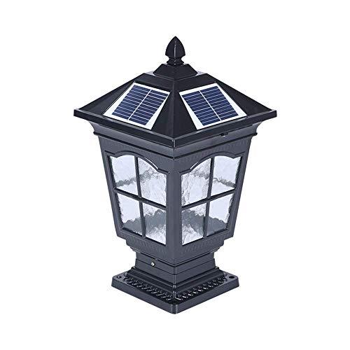IP55 Waterproof Solar Pillar Lamp European-Style Antirust Aluminum...
