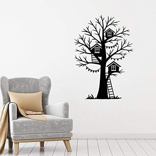 yaonuli vogelhuisje boom trappen muurtattoos kinderen huishoudtextiel kleuterschool natuurlijke boom bladloos vinyl muursticker slaapkamer