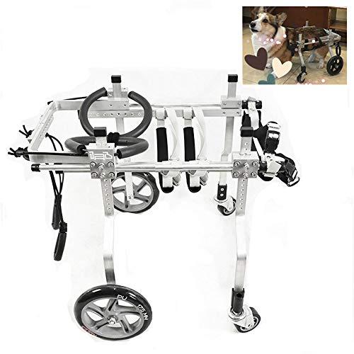 CHUDAN 4 wielige hond rolstoel, gehandicapte rolstoel/training machine voor huisdieren Rehabilitatie, verstelbare hond scooter voor het huisdier praktijk van huisdieren heupgewricht zorg,L
