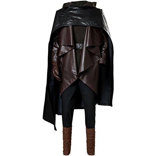 Bilicos The Last Jedi Luke Skywalker Outfit Cosplay Kostüm Herren XL