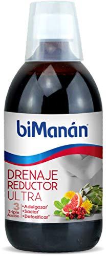 BiManán Ultra - Drenaje Reductor Triple Acción que Ayuda a Adelgazar, Saciar y Detoxificar - 500ml