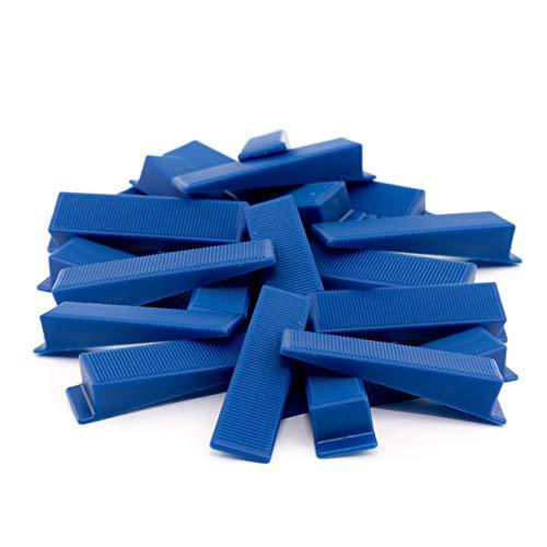 Lantelme 100 Stück Montagekeile Set Kunststoff Keil für Bau Fenster Tür Montage Farbe blau Türkeil Fensterkeil 7057