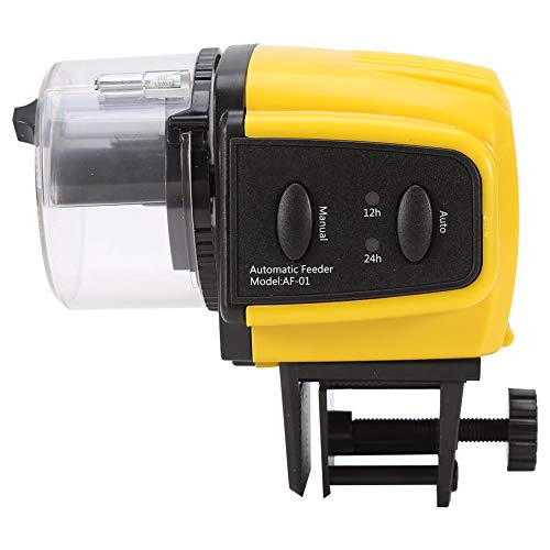 ksjdjok Digital Automático Alimentador Eléctrico de Pescado Eléctrico Temporizador de Alimentación de Pescado Acuario Alimentador de Tanque de Peces Duradero Dispensador de Comida de Pescado
