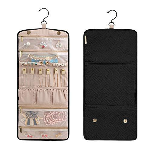 bagsmart Rotoli Portagioie Gioielli Rotolo Portagioie da Viaggio Organizer Bag per Gioielli per Orecchini Collana Bracciali Anello