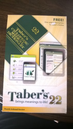 Taber's Cyclopedic Medical Dictionary With Dvd