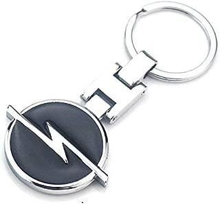 ESMPRO Opel Car Logo Titanium Black H Key Chain Keychain Ring Keyfob Metal Keyrings