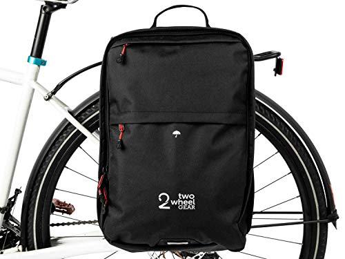 Two Wheel Gear Water Resistant Pannier Backpack – Everyday Laptop Backpack for Work, Gym, Travel, Daily Commuters, Large Capacity Bag
