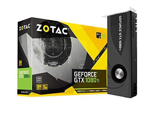 ZOTAC GeForce GTX 1080 Ti 11GB Blower Grafikkarte (NVIDIA GTX 1080 Ti, 11GB GDDR5X, 352bit, Base-Takt 1480 MHz, Boost-Takt 1582 MHz, 11 GHz)