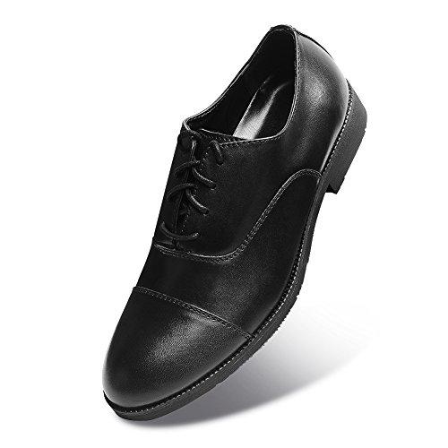 Men Casual Fashion Black Oxford Shoes (10, Black)