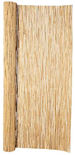 Hiss Reet® Schilf Sichtschutz, Schilfrohrmatte Deluxe I Perfekter Windschutz & Sichtschutz für Balkon, Zaun & Garten I Verschiedene Größen (100 x 300 cm)