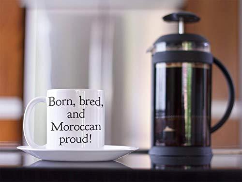 N\A Marruecos Taza de café Grande de Marruecos Divertida del Regalo del compañero de Trabajo de Larga Distancia Regalo colega Taza de la Familia de Larga Distancia GOIN Viajero del Mundo