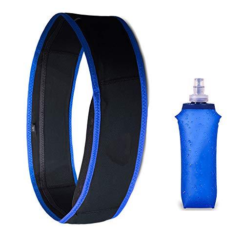 ZHLZH Sac à Dos d'hydratation à Pied/d'hydratation Sac à Dos de Cyclisme, Ceinture de Course Sac de Course Slim Pack Fanny Pack Travel Money Marathon Gym Workout,Blue-L/XL