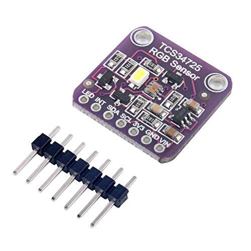 Rouku TCS34725 Módulo de reconocimiento de Sensor de Color de luz RGB para Arduino (Color: púrpura)