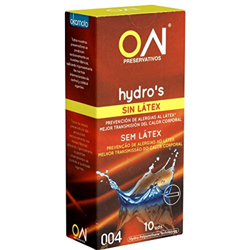 Okamoto ON® Hydros (0.04) - 10 latexfreie Kondome aus Japan - absolut geruchslos und nahezu unspürbar