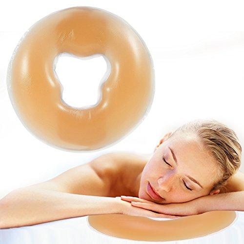 Almohada de silicona suave para masaje facial