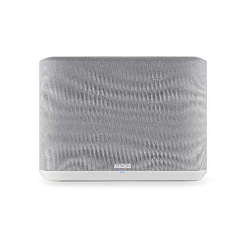 Denon Home 250 Wireless Speaker (2020 Model)   HEOS Built-in, AirPlay 2, and Bluetooth   Alexa Compatible   Stunning Design   White (Renewed)