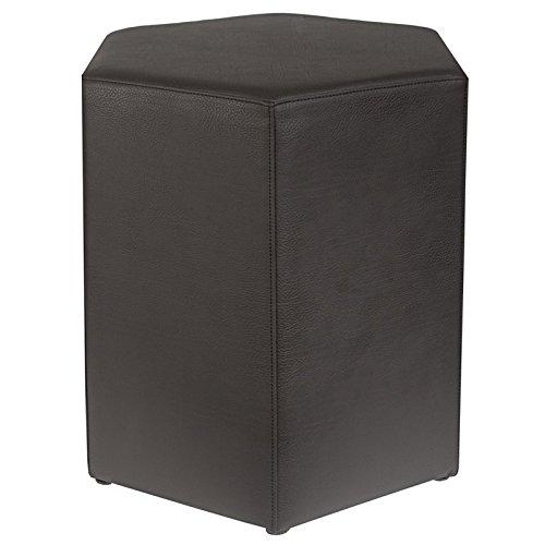 Kaikoon Tabouret 6 pans Noir Dimensions : 37 cm x 43 cm x 46 cm