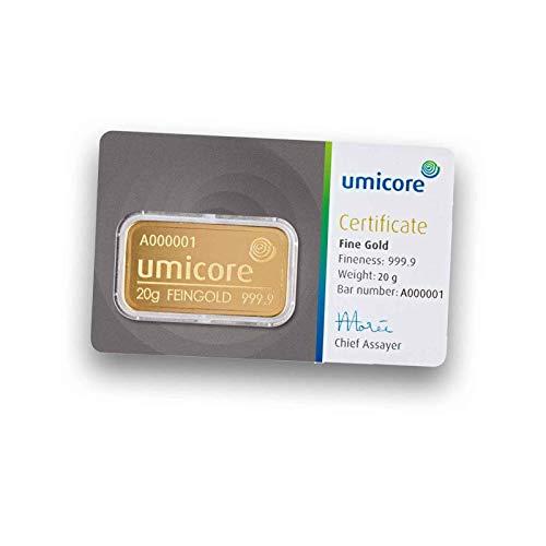 Umicore 20g Gramm Goldbarren 999.9